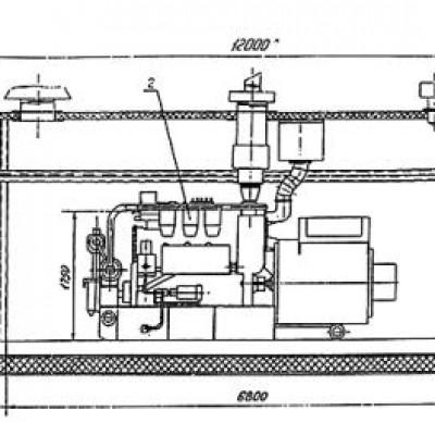 Четырехтактный газовый двигатель